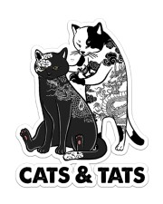 Cat And Tats Sticker - Single (Vertical) front