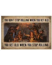 Game You Don't Stop Rolling 36x24 Poster front