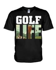 Golf life V-Neck T-Shirt thumbnail