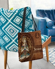 Yoga Girl Leather Pattern Print All-over Tote aos-all-over-tote-lifestyle-front-01