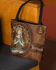 Yoga Girl Leather Pattern Print All-over Tote aos-all-over-tote-lifestyle-front-02