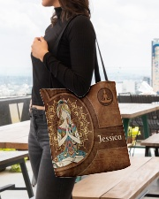 Yoga Girl Leather Pattern Print All-over Tote aos-all-over-tote-lifestyle-front-04
