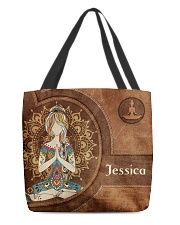 Yoga Girl Leather Pattern Print All-over Tote front