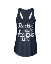 fishing life Ladies Flowy Tank front