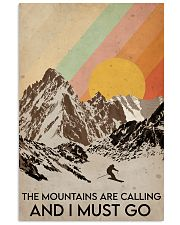 Skiing The Mountains Are Calling 16x24 Poster front