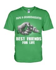 Papa n Granddaughter V-Neck T-Shirt thumbnail