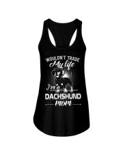 dachshund mom Ladies Flowy Tank front