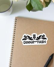 Book Dinna Fash Sticker - Single (Horizontal) aos-sticker-single-horizontal-lifestyle-front-14