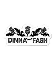 Book Dinna Fash Sticker - Single (Horizontal) front