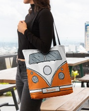 Camping Van Orange All-over Tote aos-all-over-tote-lifestyle-front-04