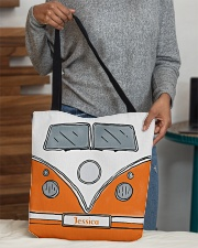 Camping Van Orange All-over Tote aos-all-over-tote-lifestyle-front-10
