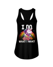 I do what i want Ladies Flowy Tank front