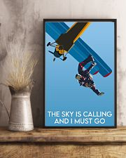 Skydiving The Sky Is Calling 16x24 Poster lifestyle-poster-3
