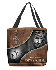 Jesus Faith Over Fear All-over Tote front