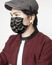 Feminist I Dissent 2 Layer Face Mask - Single aos-face-mask-2-layers-lifestyle-front-07
