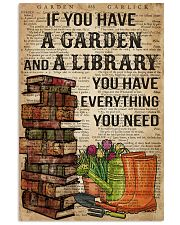 Garden and A Library 16x24 Poster front