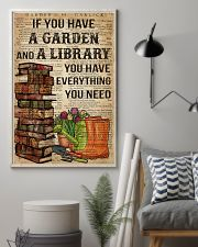 Garden and A Library 16x24 Poster lifestyle-poster-1