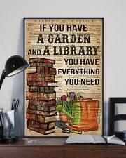 Garden and A Library 16x24 Poster lifestyle-poster-2