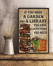 Garden and A Library 16x24 Poster lifestyle-poster-3