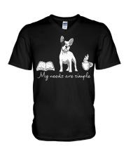 Frenchie Simple V-Neck T-Shirt thumbnail
