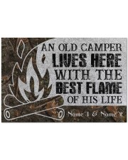 """An Old Camper Lives Here Doormat 34"""" x 23"""" front"""