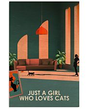 Cat Just A Girl 16x24 Poster front