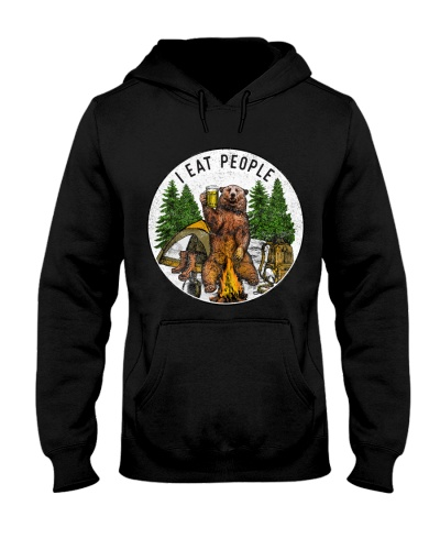 Camping I Eat People - Hoodie And T-shirt