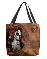 Skull Girl Print All-over Tote back