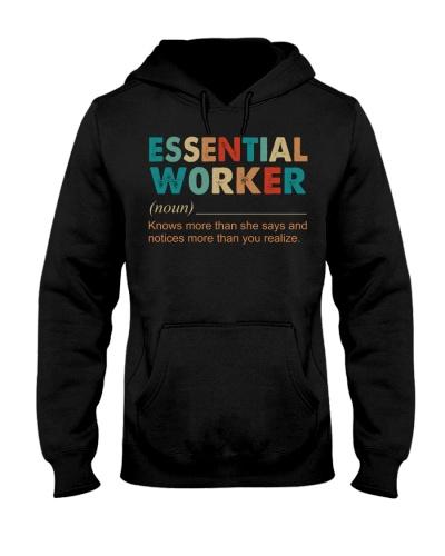 Essential worker