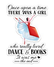 Book And Dance Sticker - Single (Vertical) front