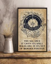 Ocean The Sea Once It Casts Its Spell 16x24 Poster lifestyle-poster-3