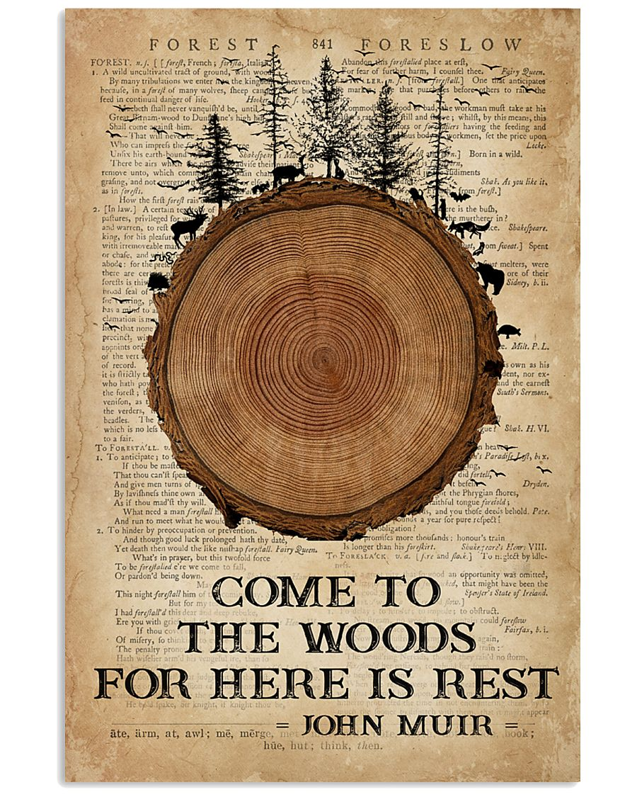 Camping Come To The Woods 16x24 Poster