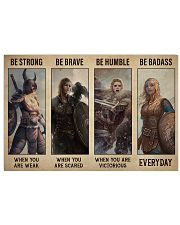 Viking Be Strong Be Brave 17x11 Poster front