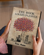 The Book Lover's Planner Medium - Leather Notebook aos-medium-leather-notebook-lifestyle-front-07