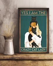 Cat Yes I Am The Crazy Cat Lady 16x24 Poster lifestyle-poster-3