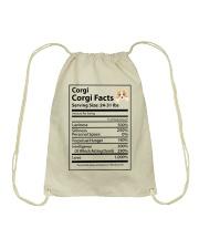 Corgi facts Drawstring Bag thumbnail