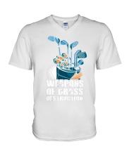 Weapons of grass V-Neck T-Shirt thumbnail