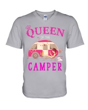 Queen of the camper V-Neck T-Shirt thumbnail
