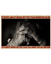 Boxing It's Not About Being Better 36x24 Poster front