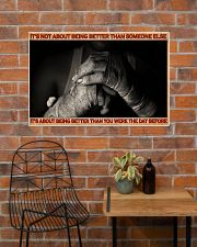 Boxing It's Not About Being Better 36x24 Poster poster-landscape-36x24-lifestyle-20