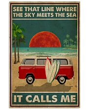 Surfing The Sky Meets The Sea 16x24 Poster front