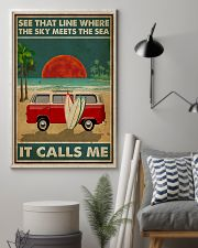 Surfing The Sky Meets The Sea 16x24 Poster lifestyle-poster-1