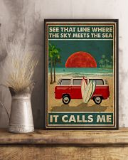 Surfing The Sky Meets The Sea 16x24 Poster lifestyle-poster-3