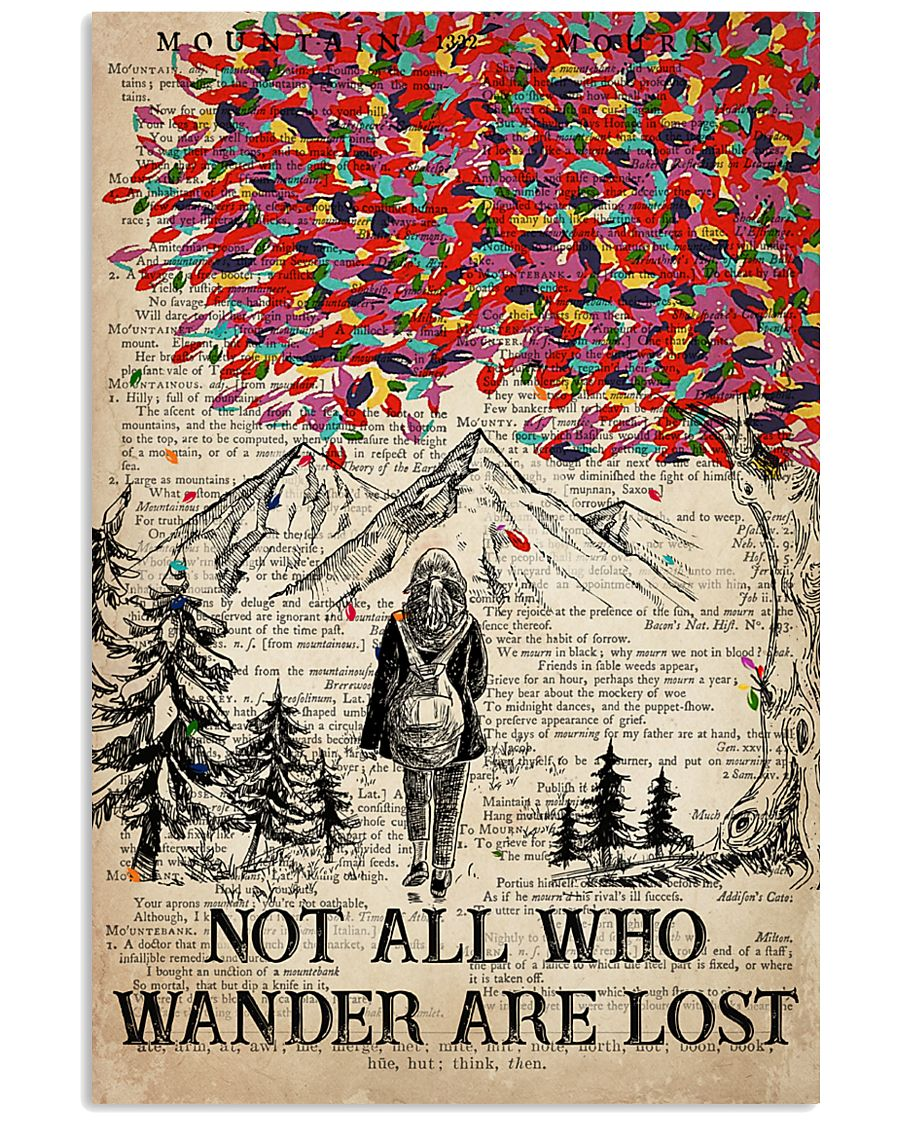 Hiking Wander Are Lost 16x24 Poster