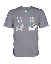 Before and After Yoga V-Neck T-Shirt thumbnail