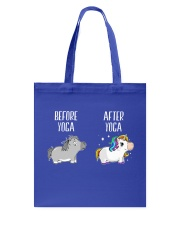 Before and After Yoga Tote Bag thumbnail