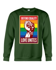Defend Equality Love Unites Crewneck Sweatshirt tile