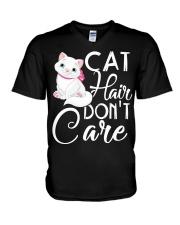Cat hair V-Neck T-Shirt thumbnail