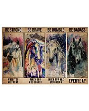 Horse Be Strong When You Are Weak 36x24 Poster front