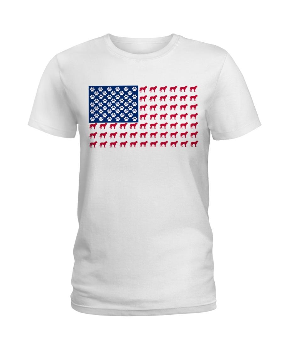 Bull Mastiff flag Ladies T-Shirt